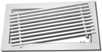 Photo 1 - Architectural Sidewall Bar Grilles & Registers with Removable Core.