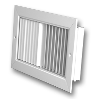 Commercial Aluminum Recessed Curved Blade Grilles & Registers